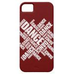 Caso tipográfico del iPhone 5 de la danza (apenada iPhone 5 Case-Mate Carcasa