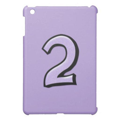 Caso tonto del iPad de la lavanda del número 2