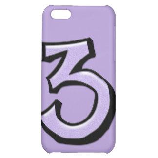 Caso tonto del iPhone 4 de la lavanda del número 3