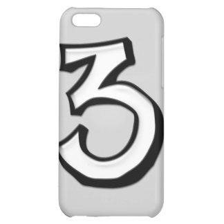 Caso tonto del iPhone 4 del blanco del número 3