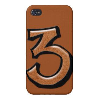 Caso tonto del iPhone 4 del chocolate del número 3 iPhone 4 Coberturas