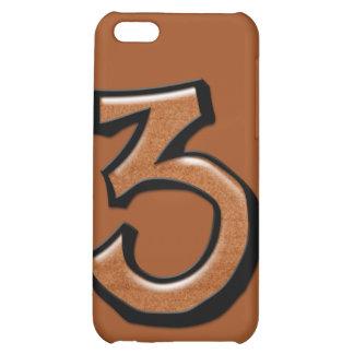 Caso tonto del iPhone 4 del chocolate del número 3