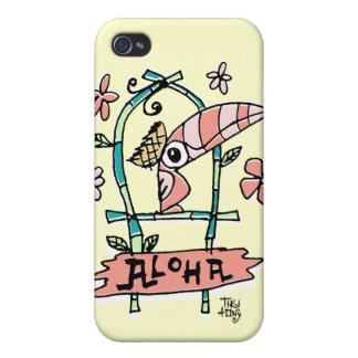 Caso tOny del iPhone del pájaro de Tiki Tiki iPhone 4 Carcasa