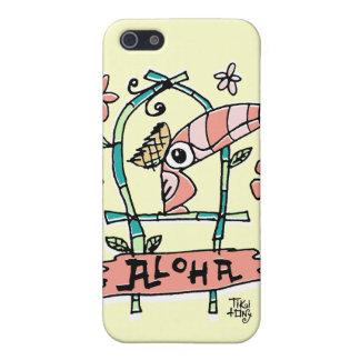 Caso tOny del iPhone del pájaro de Tiki Tiki iPhone 5 Fundas