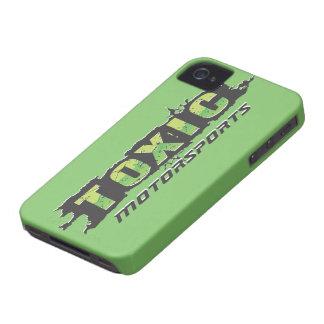 Caso tóxico de IPhone del Motorsports Funda Para iPhone 4 De Case-Mate