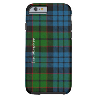 Caso tradicional del iPhone 6 de la tela escocesa