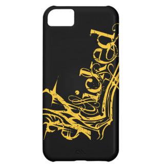Caso travieso del amarillo iPhone5