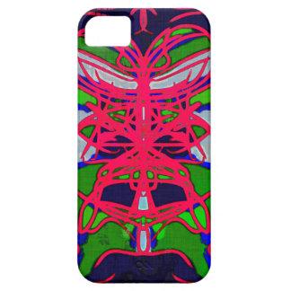 Caso tribal del iphone 5 de la máscara del batik funda para iPhone SE/5/5s