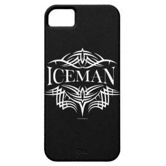 Caso tribal del iPhone 5 del hockey (Iceman) Funda Para iPhone 5 Barely There