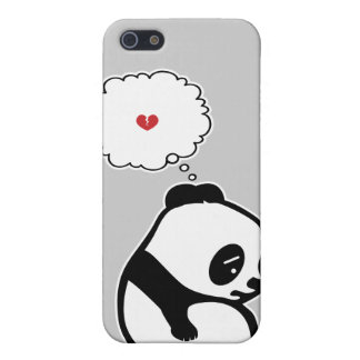 Caso triste de la panda iPhone 5 protector