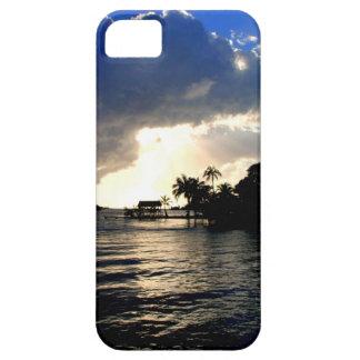 Caso tropical de la puesta del sol iPhone5 de la