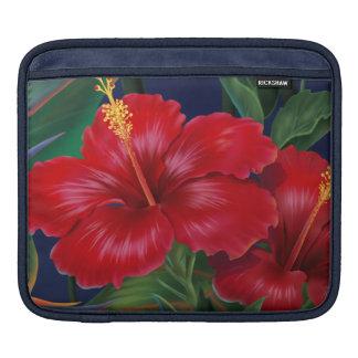 Caso tropical del iPad del carrito del hibisco del Mangas De iPad
