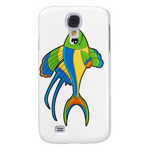 Caso tropical del iphone 3G de los pescados Funda Para Galaxy S4