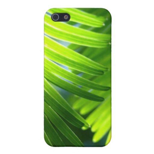 Caso tropical del iphone 4 de las hojas iPhone 5 carcasas