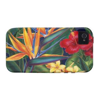 Caso tropical del iPhone 4 del ambiente del paraís iPhone 4 Carcasas