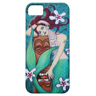 Caso tropical del iPhone 5 de la sirena de Tiki iPhone 5 Fundas