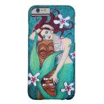 Caso tropical del iPhone 6 de la sirena de Tiki Funda Barely There iPhone 6