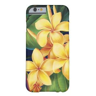 Caso tropical del iPhone 6 del Plumeria del Funda De iPhone 6 Barely There