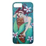 Caso tropical del iPhone 7 de la sirena de Tiki Funda iPhone 7