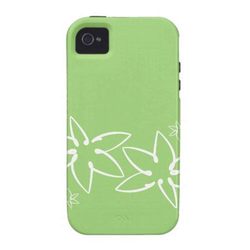 Caso tropical del iphone de la flor carcasa para iPhone 4/4S