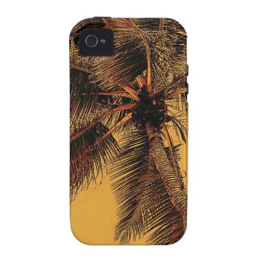 caso tropical del iPhone de la palma Vibe iPhone 4 Carcasas