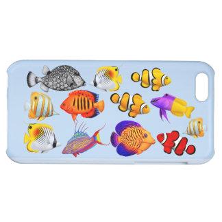 Caso tropical del iPhone de los pescados del arrec