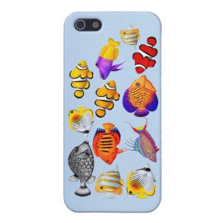 Caso tropical del iPhone de los pescados del iPhone 5 Carcasas