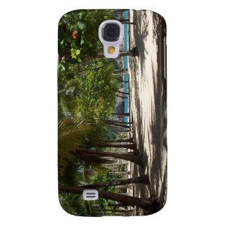 Caso tropical del iPhone del paraíso Funda Para Galaxy S4