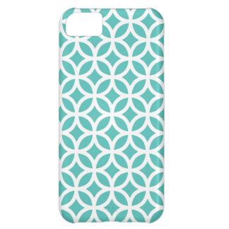 caso \ turquesa del iPhone 5C geométrica Funda Para iPhone 5C