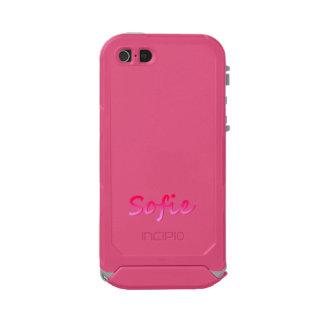 Caso ultra rugoso del iPhone 5 de Sofie en rosa Carcasa De Iphone 5 Incipio Atlas Id