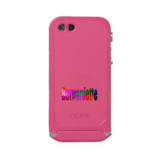 Caso ultra rugoso rosado del iPhone de Bernardette Carcasa De Iphone 5 Incipio Atlas Id