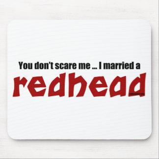 Casó un Redhead Tapetes De Raton
