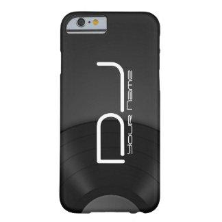 Caso único del iPhone 6/6s de DJ con el fondo del Funda De iPhone 6 Barely There