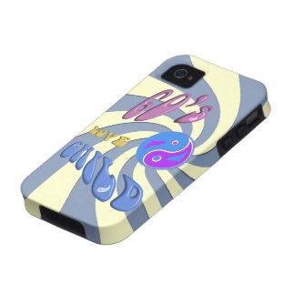 caso universal del ambiente 4S del iPhone 4 del hi Vibe iPhone 4 Carcasas