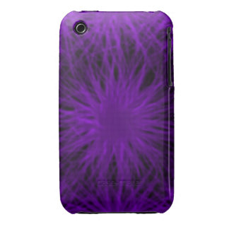 Caso universal del ambiente púrpura y negro del Case-Mate iPhone 3 protectores