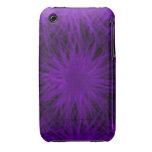 Caso universal del ambiente púrpura y negro del iP Case-Mate iPhone 3 Carcasas