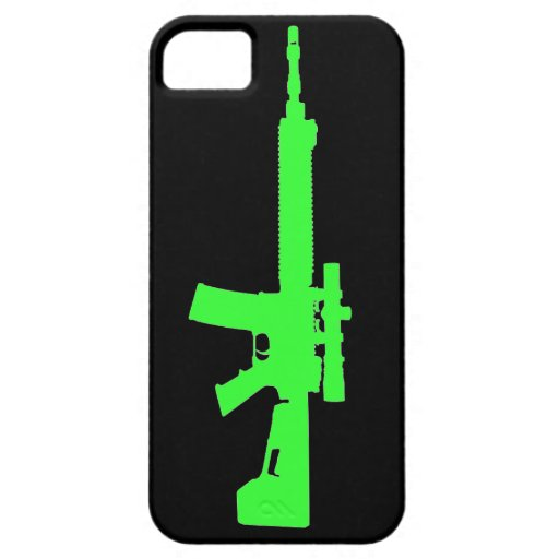 Caso universal del iPhone AR-15 5 verdes del zombi iPhone 5 Case-Mate Cárcasa