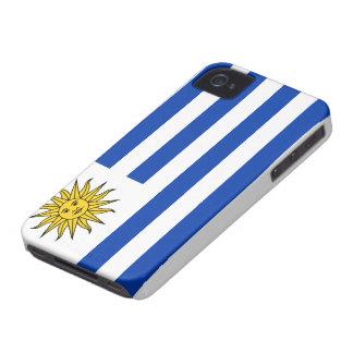 Caso uruguayo del iPhone 4 de la bandera iPhone 4 Case-Mate Funda