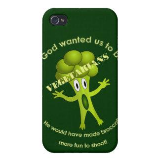 Caso vegetariano divertido del iPhone 4 de la cita iPhone 4 Cárcasas