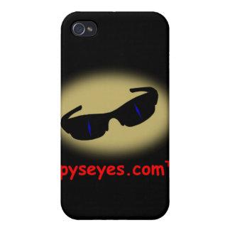 Caso vertical del iphone 4 de Spyseyes iPhone 4 Protectores