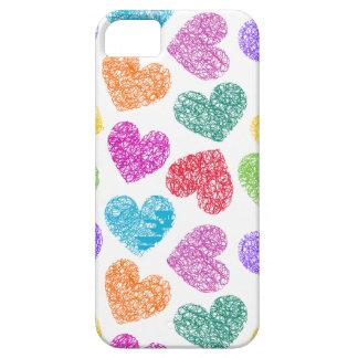 Caso vibrante del iPhone 5 de los corazones iPhone 5 Carcasas