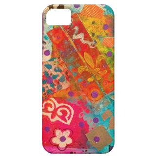 Caso vibrante y del artista estupendo del iPhone iPhone 5 Carcasa