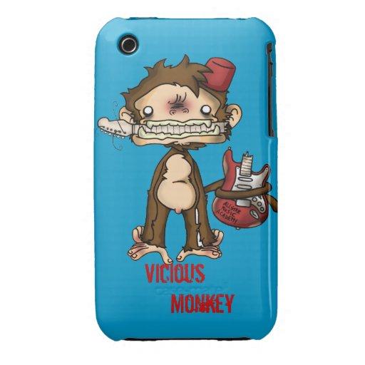 Caso vicioso de Iphone del mono iPhone 3 Protectores
