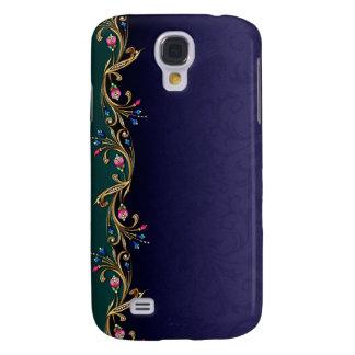 Caso vivo de HTC de la guirnalda floral de la joya Funda Para Galaxy S4