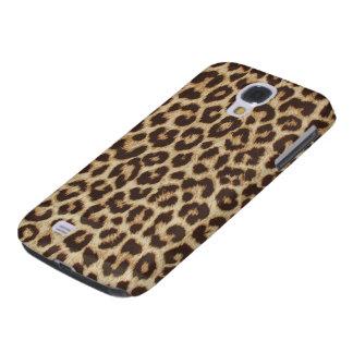 Caso vivo de HTC del estampado leopardo Funda Para Galaxy S4