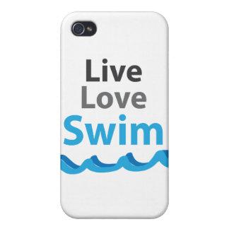 Caso vivo de la nadada del amor iPhone 4/4S carcasa
