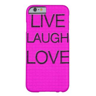 Caso vivo del iPhone 6 del amor 3D de la risa Funda De iPhone 6 Barely There