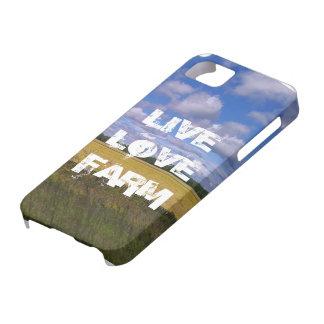 Caso vivo del iPhone de la granja del amor iPhone 5 Carcasas