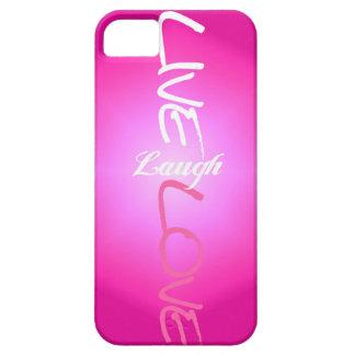 Caso vivo del iPhone del amor de la risa del rosa iPhone 5 Funda