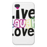 Caso vivo del iPhone del amor de la risa iPhone 4 Cárcasas
